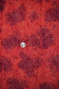 "Cotton batik quilting fabric 44"" x 1.5 yards, dark pink & purple"
