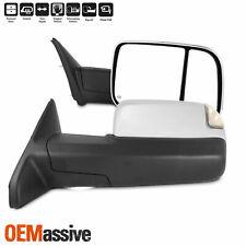 For 09-18 Ram - Pair Towing Mirrors W/ Power Fold/Temp Sensor & Heat/Turn Signal