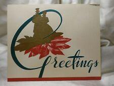 HOLIDAY Seasonal CARD Christmas GREETING Perennials Golden Couple Vintage