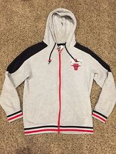 Chicago Bulls NBA Hoodie Sweater Mens Size Small Gray Vintage!