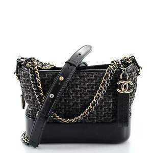 Chanel Gabrielle Hobo Quilted Tweed and Calfskin Small