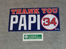 Red Sox Boston Fenway Thank You Papi Logo David Ortiz Bumper Sticker Decal
