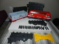 Playmobil RC Train Set 4010 Locomotive Tracks Cargo Car Lot