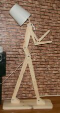 Floor Lamp, Modern Nordic Style 1.6m Wooden Wood Standing Light Man Human