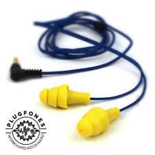 ORIGINAL PLUGFONES YELLOW Earplugs with Music Headphones 3.5mm Jack - FREE UK PP