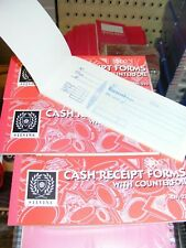 cash receipt book with counterfoil x4