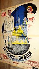 LA VIERGE DU RHIN ! jean gabin   affiche cinema  1953