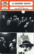 Fiche Cinéma. Movie Card. Le deuxième souffle (France) 1966 Jean-Pierre Melville