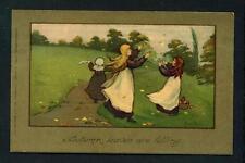 CHILDREN – 'AUTUMN LEAVES ARE FALLING' – ARTIST BARHAM – FAULKNER – USED – 1911