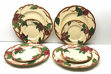 """8 pc Old Franciscan Earthenware 9.5"""" Apple Grill Dinner Plates+ 6.5"""" Dessert USA"""