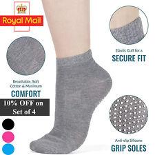 1 Pair Ladies Yoga Socks Sports Gym Non Slip Ballet Exercise Grip Cotton Pilates