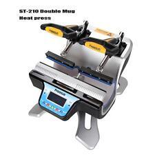 280W LCD Digitale Pressa a Caldo  per Sublimazione su Tazze con 2 Morsetti 220V
