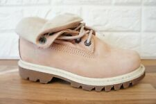 Caterpillar CAT Womens Size 4 Pink Leather Roll Top Ladies Boots