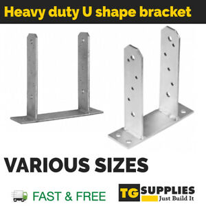 HEAVY DUTY GALVANISED ELEVATED POST SUPPORT BRACKET BASE Bolt down Various sizes