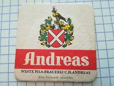 Alter Bierdeckel Westf. Pils-Brauerei C.H. Andreas - HAGEN / Dortmund  /K2