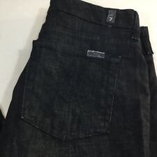 Seven 7 For All Mankind Lexie Petite A Pocket Dark Black Jeans Size 27 X 29 USA