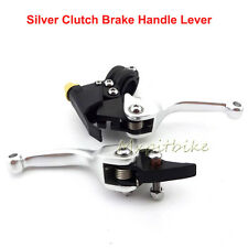 CNC Clucth Brake Levers Silver For 50cc-160cc Pit Pro Dirt Bike Mini Motocross