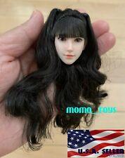 1//6 Asian Female Head Sculpt Cheveux Noir SDH010A pour Phicen TBLeague Figure ❶ USA ❶
