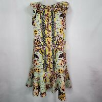 Women's Free People Botanical Summer in Tulem Linen Blend Tunic Top Size XL NEW