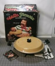 Vintage 70's Mirro Watta Pizzaria Electric Pizza Baker Maker Harvest Gold