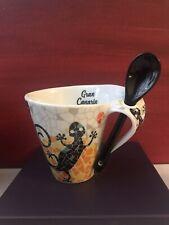Beautiful Gran Canaria Tea/Coffee Mug With Spoon