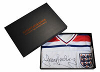 Trevor Brooking SIGNED Shirt England 1982 NEW BNWT PROOF AFTAL COA & Gift Box