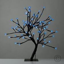Blue LED Cherry Blossom Bonsai Sakura Tree with 72 LED Fairy Lights  Table Lamp