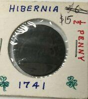 1742 BRITAIN COIN (HIBERNIA)