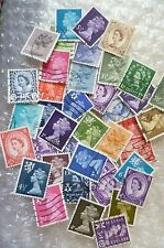 Stamp- A collection of GB Stamps - lot of 39 (Used & Unused)