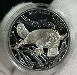 2018 $1 Australia at Night Platypus 1oz Silver Black Proof Coin ONLY 1,000