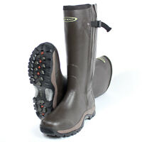 Dirt Boot® Neoprene Rubber Wellington Muck Boot Pro-Sport™ Hunt Zip Brown