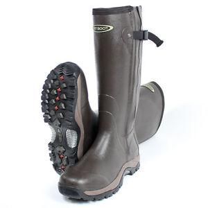 Dirt Boot® Neoprene Rubber Wellington Muck Boot Pro-Sport™ Hunt Zip Tall Brown