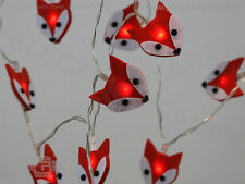 Felt Fox LED Stringlights, Soft, Battery-Powered, Low Voltage Fairy Lights
