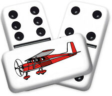 Americana Series Private Plane Design Double six Professional size Dominoes
