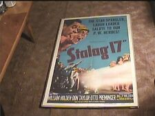"""Stalag 17 """"A"""" 1953 Orig Movie Poster William Holden Classic"""