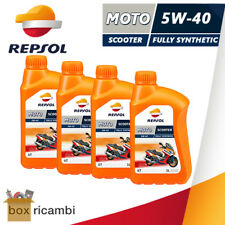 4 LITRI OLIO MOTORE 4T REPSOL MOTO SINTETICO 5W40 SCOOTER  (MOTORE 4 TEMPI)