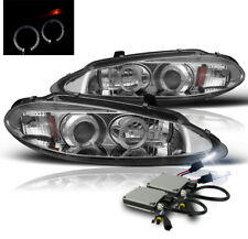 1998-2004 DODGE INTREPID 4DR CHROME HALO PROJECTOR HEADLIGHT LAMP+8K HID NEW SET