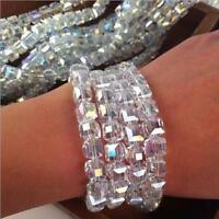 Elegant Crystal Beads Glass Square-shape Charms Jewelry Diy Making Loose Spacers