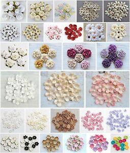 Paper Flower Embellishments - Poppy Daisy Roses Blossom - Handmade Cards Crafts