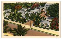 Bird's-Eye View Cactus Terrace, Key West, FL Postcard *250