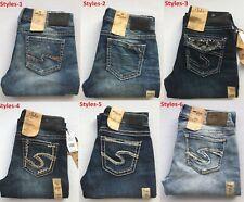 NEW Silver Jeans Women's SUKI BOOTCUT Leg Mid Rise 90718A