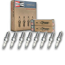 8 pc Champion 975 Copper Spark Plugs REC10YC4 - Pre Gapped Ignition ow
