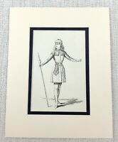 1889 Antico Stampa Shakespeare Personaggio Costume Rosalind Come You It Play