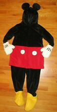 Disney Store Deluxe Mickey Mouse Velour Costume One Piece Adult Size Small