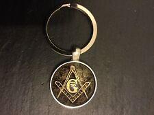 New MASONIC Square & Compass Logo KEY RING Fob Metal Keyring Freemason Mason