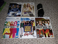 Disney Sing It 5 Game Karaoke Lot w/ Interactive Studios Microphone Lot