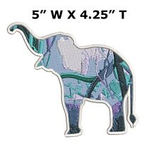 Elephant Embroidered Patch Iron on / Sew-on Souvenir Travel Vacation Africa