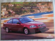 Honda Civic Coupe range brochure Jul 1998