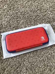 NEW! Mario Red & Blue Edition Nintendo Switch Slim Game Travel Carrying Case!