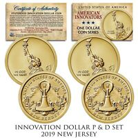 American Innovation NEW JERSEY 2019 Statehood $1 Dollar Coin - 2-Coin P & D Set